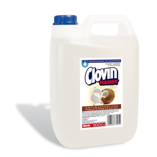 Mydło antybakteryjne 5l Mleko i Kokos z Gliceryną Clovin