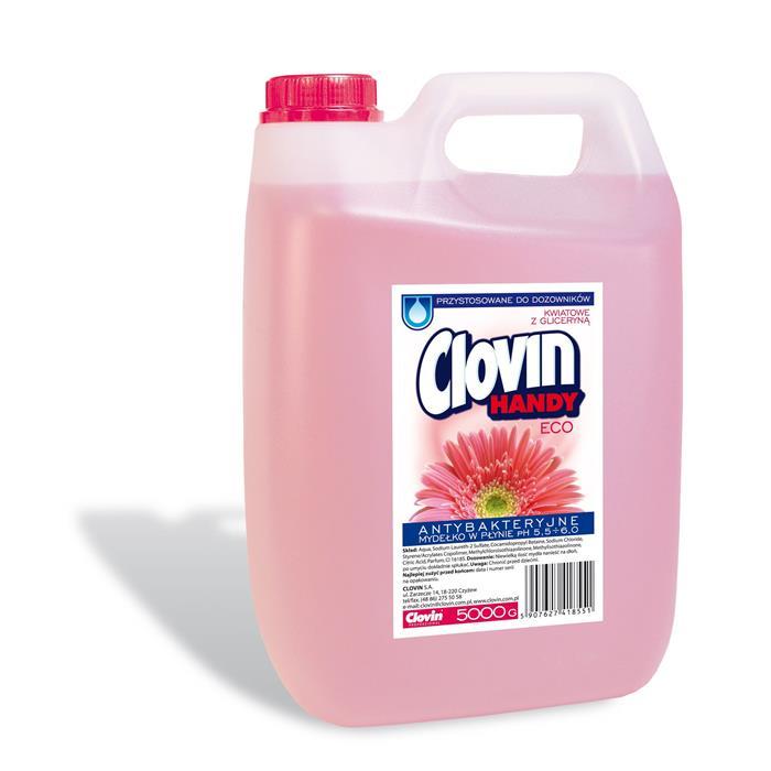 Mydła - Mydło antybakteryjne 5l Kwiatowe Clovin -