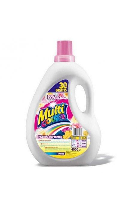 Żele, płyny do prania i płukania - Płyn Do Płukania 4l Multicolor Flowers Clovin -