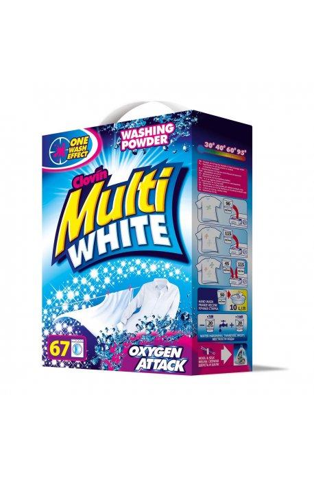 Proszki i pojemniki do prania - Proszek 5kg Multiwhite Karton Clovin -