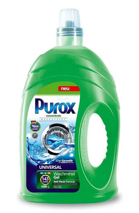 Żele, płyny do prania i płukania - Purox Płyn Do Prania 4,3l Universal Clovin -