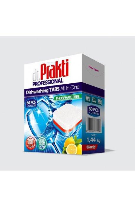 Tabletki, sole, nabłyszczacze do zmywarki - Dr.Prakti Tabletki Do Zmywarek 60+12szt Clovin -