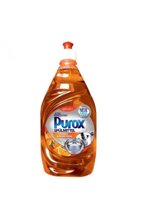Płyny do naczyń - Purox Koncentrat Do Naczyń Orange 650ml Clovin -