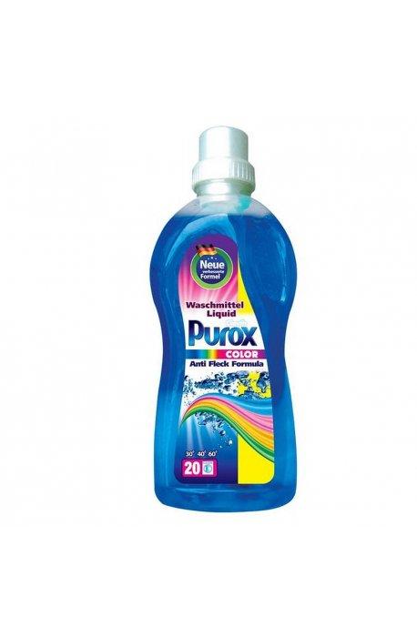 Żele, płyny do prania i płukania - Purox żel do prania kolor 1l Clovin -