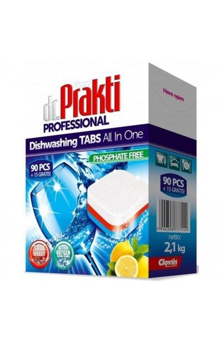Tabletki, sole, nabłyszczacze do zmywarki - Dr.Prakti Tabletki Do Zmywarek 90+15szt Clovin -