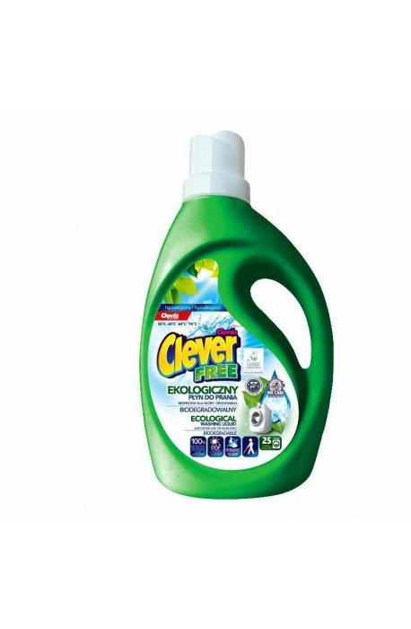 Żele, płyny do prania i płukania - Żel Do Prania Clever Free 1500g Clovin -