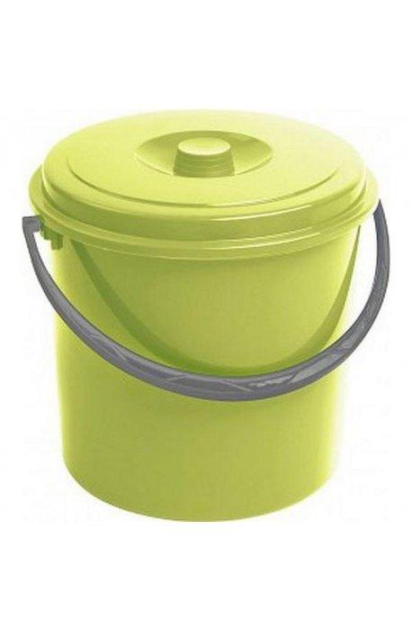 Wiadra - Curver Wiadro 12l Z Pokrywą Zielone 235237 -