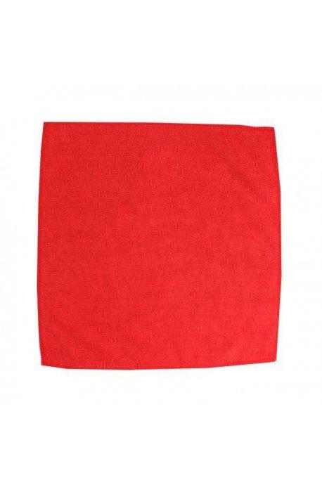 Gąbki, ścierki, szczotki - Ścierka z mikrowłókien 32x32 czerwona F  -