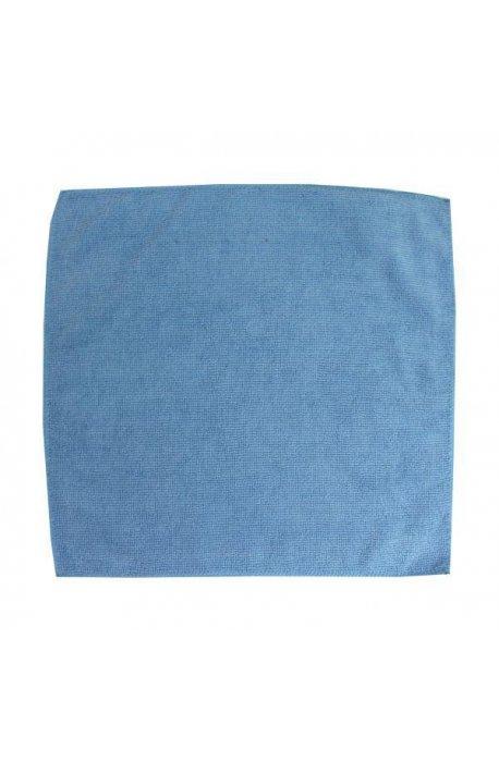 Gąbki, ścierki, szczotki - Ścierka z mikrowłókien 32x32 niebieska F  -