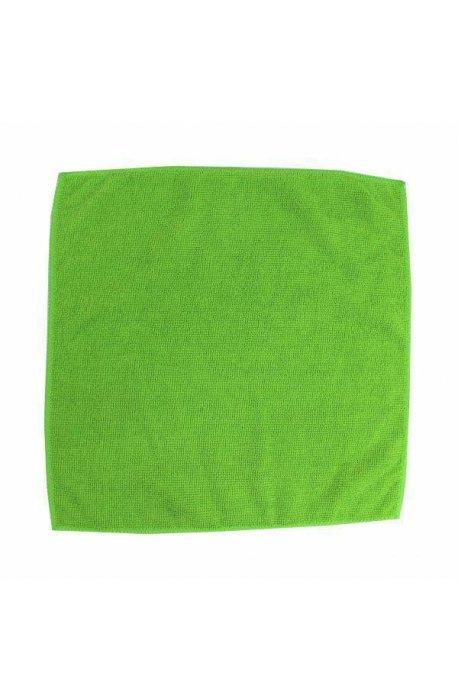 Gąbki, ścierki, szczotki - Ścierka z mikrowłókien 32x32 zielona F  -