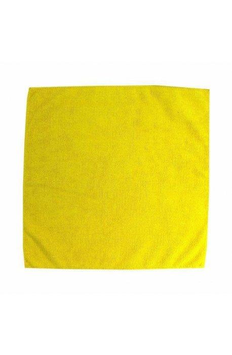 Gąbki, ścierki, szczotki - Ścierka z mikrowłókien 32x32 żółta F  -