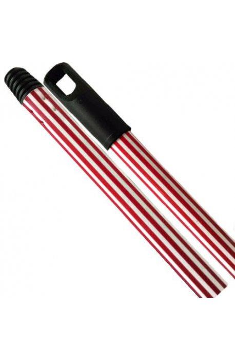 Drążki, kije - Kij Drążek Gumowany Czerwony 130cm F -