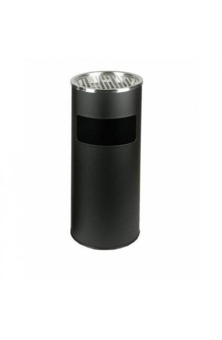 Popielnice - Koszo-Popielnica FPOP-05 H60cm Czarna 17l Mega F -