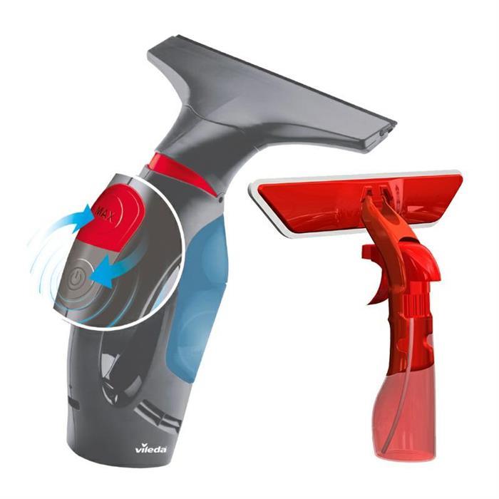 Ściągaczki do okien i podłóg - Vileda Elektryczna Ściągaczka Do Szyb Plus Spray 161331 -