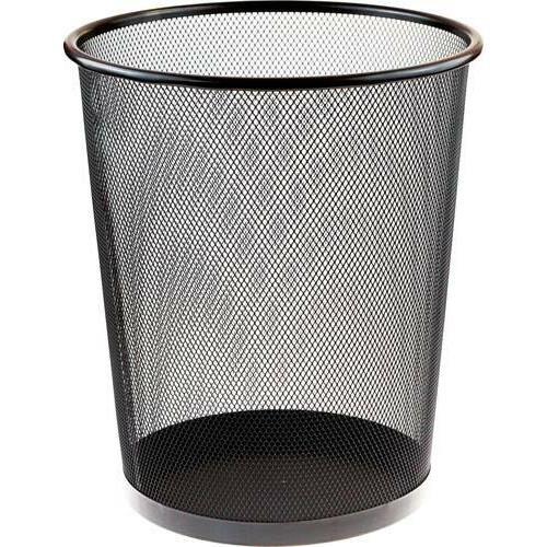 Kosz Metalowy Na Śmieci 15l Czarny Okrągły Siatka F