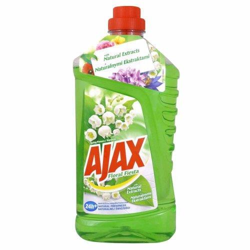 Uniwersalny Płyn Wiosenne Kwiaty Konwalia 1l Zielony Ajax
