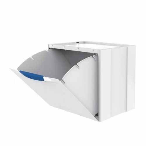 Kosz na śmieci Ecocubes 22l segregacja biało-niebieski Meliconi