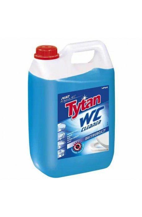 Płyny do WC lub łazienki oraz koszyki zapachowe - Tytan Płyn Do Wc 5l Niebieski  -