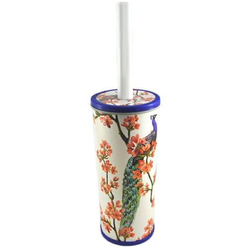 Zestaw szczotka plus pojemnik do wc Tuba Dekor, wzór w pawie