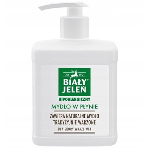 Mydło W Płynie Hipoalergiczne 500ml Biały Jeleń