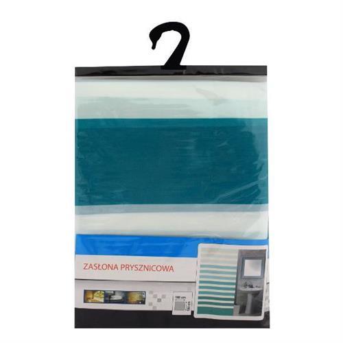 Zasłona Prysznicowa Poliester Pasy 180x180cm PS-8 F