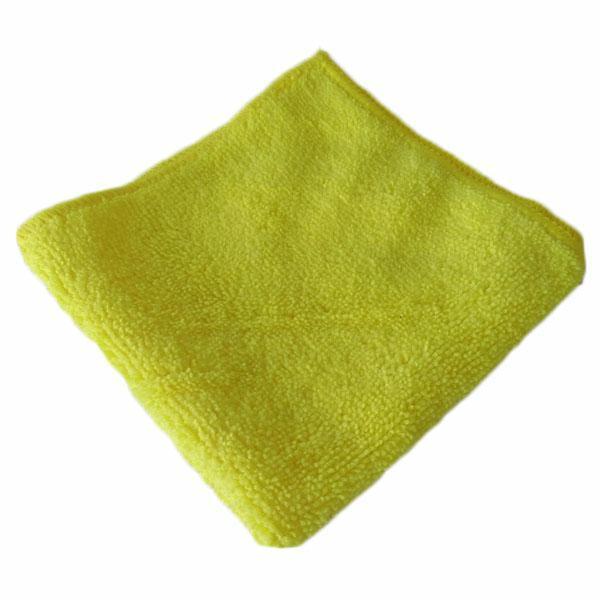 Gąbki, ścierki, szczotki - Ścierka Mikrofaza 30x30 Żółta W -