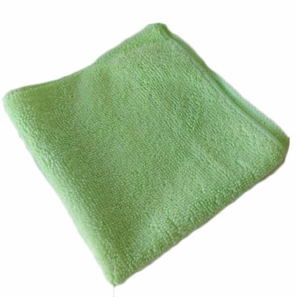 Gąbki, ścierki, szczotki - Ścierka Mikrofaza 30x30 Zielona W -