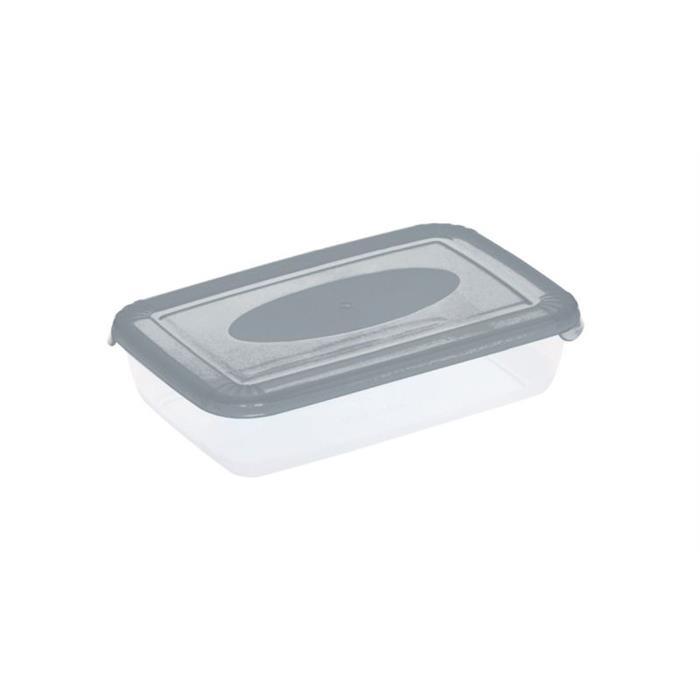 Pojemniki do żywności - Plast Team Pojemnik Polar Prostokątny 0,46l Szary transparentny 1670 -