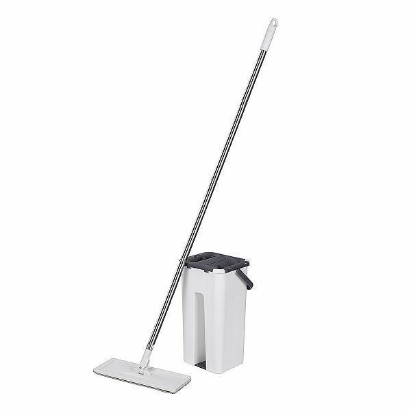 Zestawy sprzątające - Genius Mop Samoczyszczący Zestaw z Wiadrem + Dwa Wkłady -