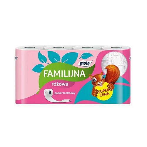 Mola Familijna Papier Toaletowy Różowy 8szt