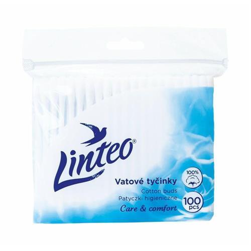 Patyczki Kosmetyczne 100szt Folia Linteo