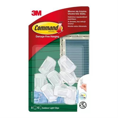 3M Command 8 Klipsów Do Wieszania Lampek 17017CLR-AWWCEE