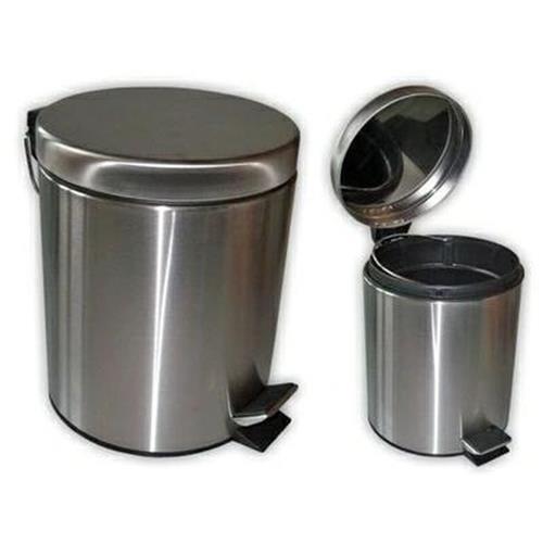 Kosz Metalowy Na Śmieci Na Pedał 7l Satyna F