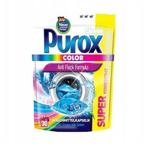 Purox Kapsułki Do Prania Color 30szt Clovin