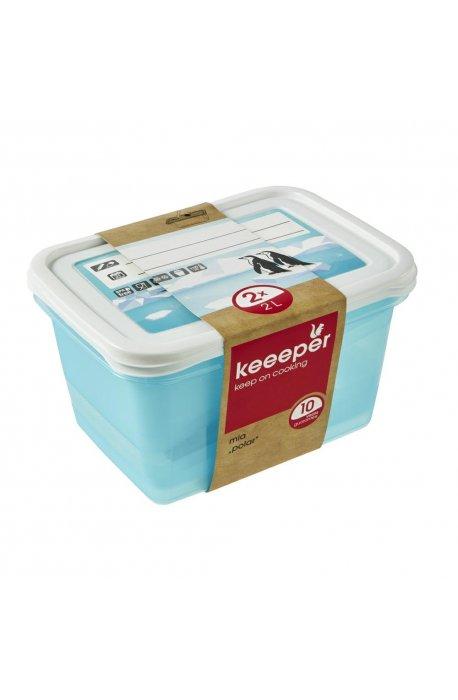 Pojemniki do żywności - Komplet Pojemników Polar 2x2l 3069 Keeeper -