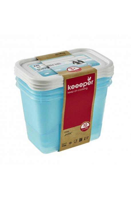 Pojemniki do żywności - Komplet Pojemników Polar 3x1l 3069 Keeeper -