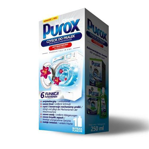 Purox Czyścik Antybakteryjny W Płynie Do Pralek 250ml Clovin