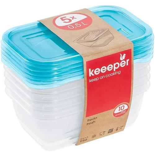Keeeper Zestaw Pojemników Fredo Fresh 5x0,5l 3067