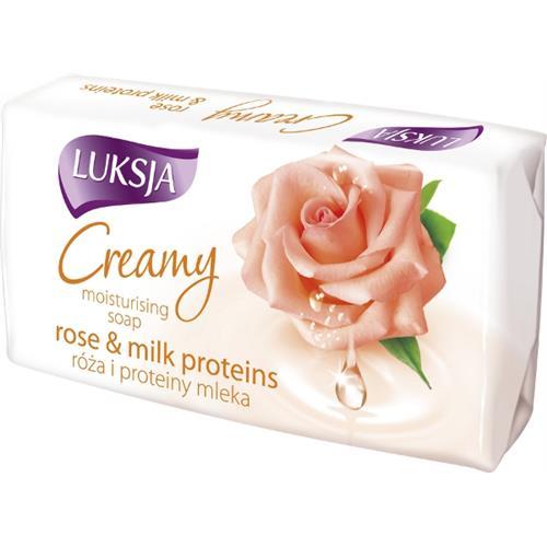 Mydło Luksja Creamy 90g Różowe Płatki
