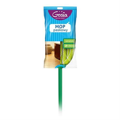 Mop Z Drążkiem Paskowy Zielony 4960