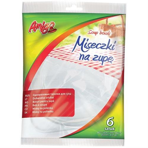 Amigo miski na zupę plastikowe 6szt