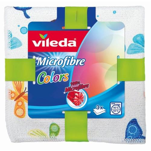 Ścierka Microfibra Color 3szt 153015 Vileda