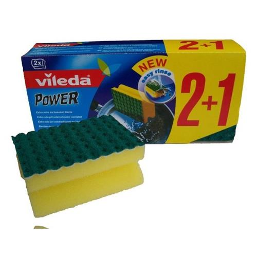 Vileda Zmywak Power Green 2+1