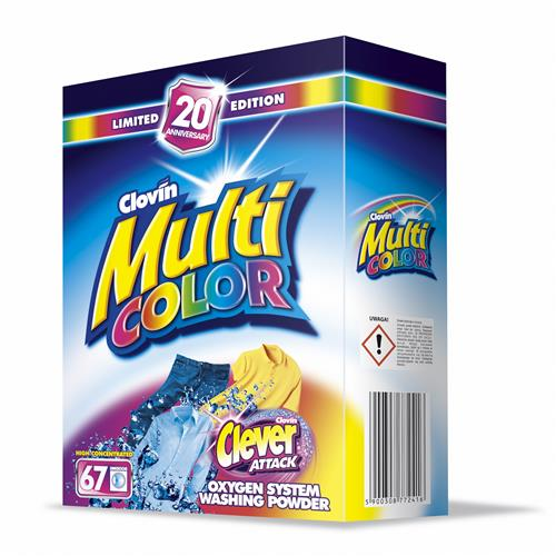 Proszek Multicolor 5kg Karton Clovin