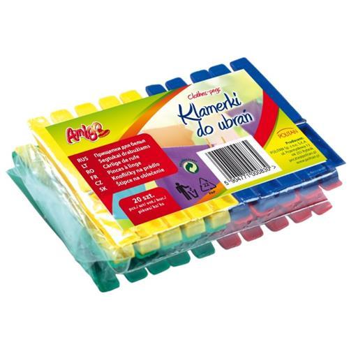 Gosia Amigo Klamerki Plastikowe  20szt 3588