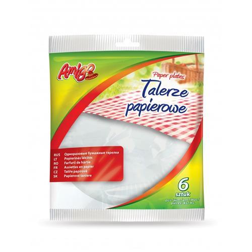 Gosia Amigo talerze papierowe okrągłe 6szt