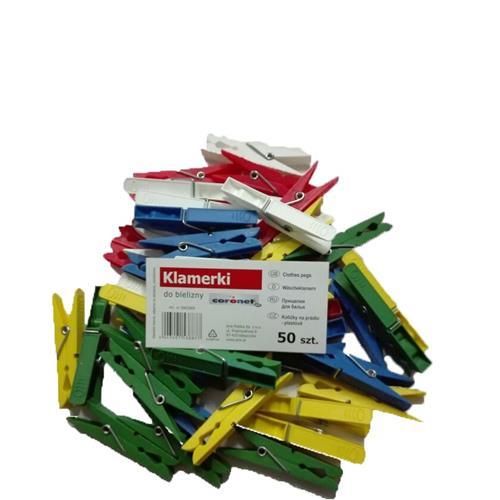 Coronet Klamerki plastikowe 50szt  3902005